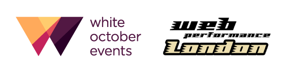 White October and London Web Performance Group logos